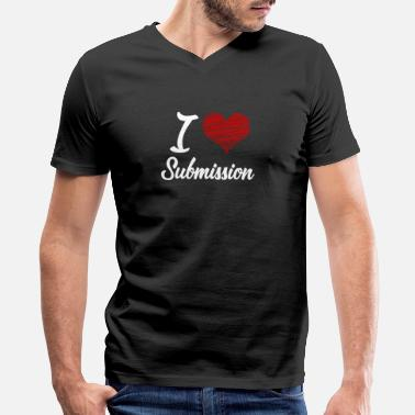 I Love Bdsm I love Submission - Men's V-Neck T-Shirt by Canvas