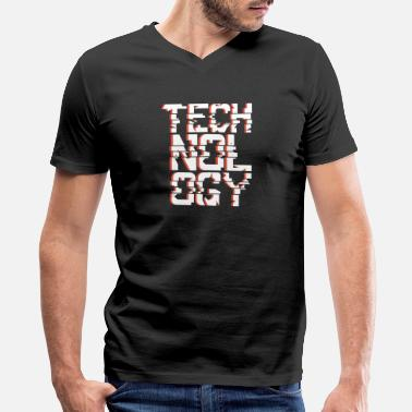 Technologies Technology - Men's V-Neck T-Shirt by Canvas