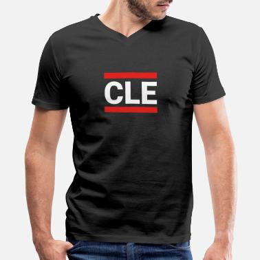 Cleveland Pride Apparel Cleveland Sports T-Shirt, Cleveland Apparel Gift - Men's V-Neck T-Shirt by Canvas