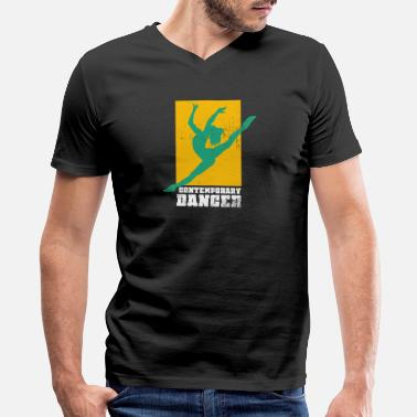 Contemporary Dance Contemporary Dance Dancing Modern Dancer Ballet - Men's V-Neck T-Shirt