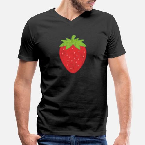 5a9c2034166 Strawberry gift christmas summer party Men s V-Neck T-Shirt ...