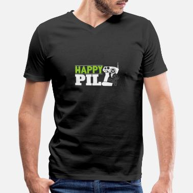 Remote Happy Pill RC toy for men christmas gift kids - Men's V-Neck T-Shirt by Canvas