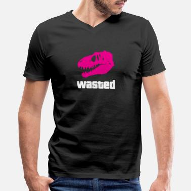 Waste Wasted - Men's V-Neck T-Shirt by Canvas