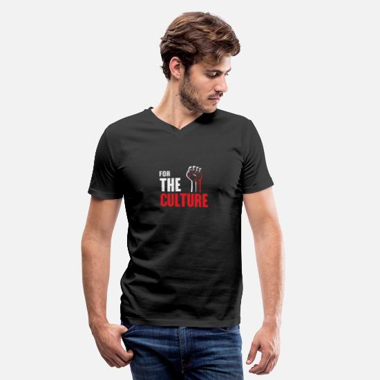Africa T-Shirts - For The Culture - Men's V-Neck T-Shirt black