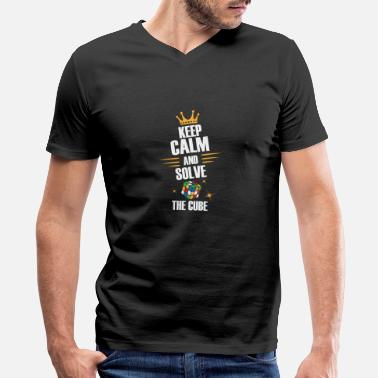 Zauberwürfel Keep Calm, Solve The Magic Cube - Limited Edition - Men's V-Neck T-Shirt