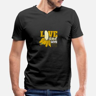 Sex Milk Live and love Banana Sexy sex erotic Porn - Men's V-Neck T-Shirt by Canvas