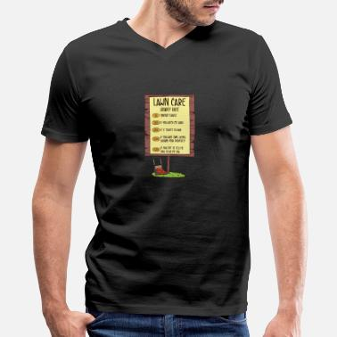 Lawn Mowing - Men's V-Neck T-Shirt by Canvas