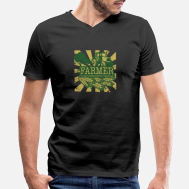 Distracted Tractors Farmer Easily Distracted By Tractors - Men's V-Neck T-Shirt