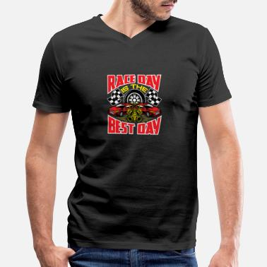 Race Day Race Day Is The Best Day - Men's V-Neck T-Shirt