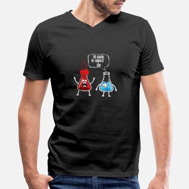 Test Tube Overreacting Science Chemistry - Men's V-Neck T-Shirt