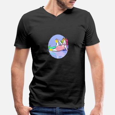 Excercise Class Unicorn excercise - Men's V-Neck T-Shirt