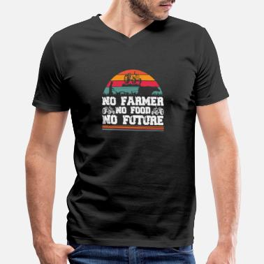 Bulldog No farmer no food no future - Farmer - Men's V-Neck T-Shirt