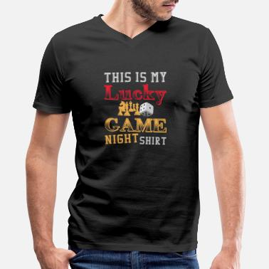 For Chess This is my Lucky Game Night shirt - Men's V-Neck T-Shirt