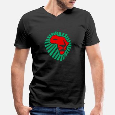Africa Lion head Africa - Men's V-Neck T-Shirt