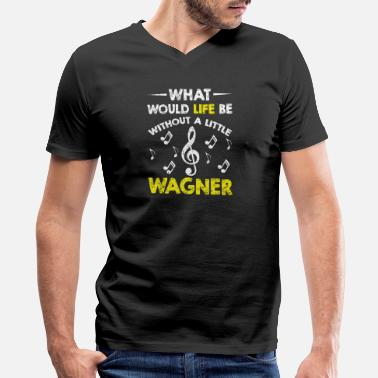 Band Indie Music Music - funny wagner composer music band classic - Men's V-Neck T-Shirt