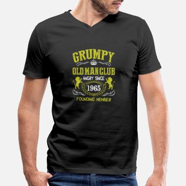 Since Grumpy Old Man Club Since 1965 Founder Member Tees - Men's V-Neck T-Shirt