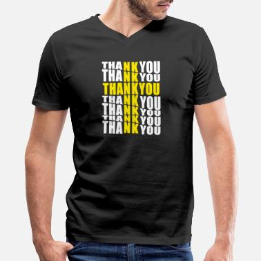 Typography Christian Christian Gift - Thank You Typography - Men's V-Neck T-Shirt