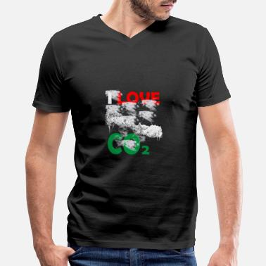 Co2 I love Co2 - Men's V-Neck T-Shirt