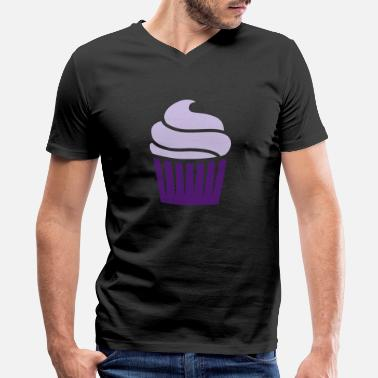 Two Colored cupcake two-colored - Men's V-Neck T-Shirt
