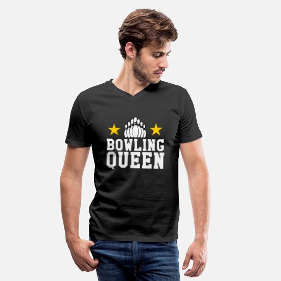Bowling Club T-Shirts - Bowling Queen | Bowler Club Sport Gift - Men's V-Neck T-Shirt black
