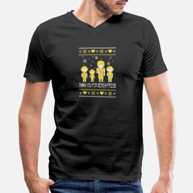 Golden Girls Tv Show The golden girls – Ugly Christmas Sweater - Men's V-Neck T-Shirt by Canvas