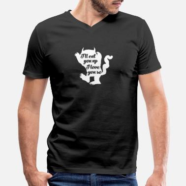Lets Get Weird Swag Let's get wild - I'll eat you up I love you so - Men's V-Neck T-Shirt by Canvas