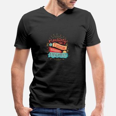 Creative creativity - Men's V-Neck T-Shirt