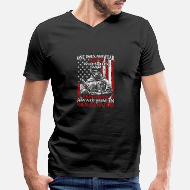 Ironic Patriot - Brothers await him in the hall of fame - Men's V-Neck T-Shirt