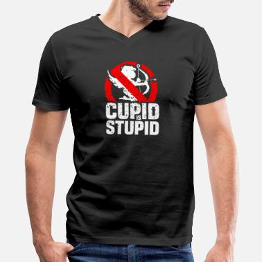 Stupid Cupid Cupid - cupid is stupid - valentines day - Men's V-Neck T-Shirt by Canvas