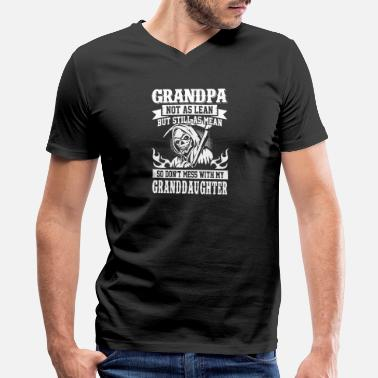 Grandad Grampy - men's grandpa not as lean but still as - Men's V-Neck T-Shirt