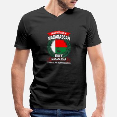 Madagascar Madagascar Is Where My Heart Belongs Country Tees - Men's V-Neck T-Shirt