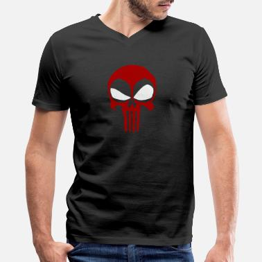 Deadpool Movie Deadpool - Deadpool - deadpool punisher - Men's V-Neck T-Shirt by Canvas