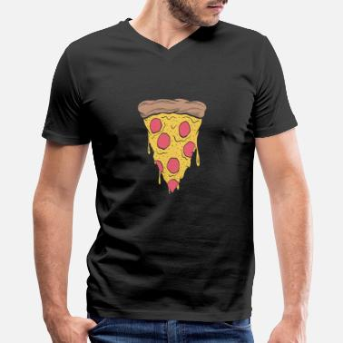 Dish Chicago's deep dish pizza - deep dish pizza day - Men's V-Neck T-Shirt