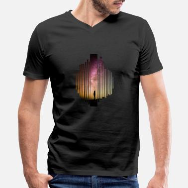Starry Sky The starry sky - Men's V-Neck T-Shirt