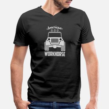 Workhorse American Workhorse 01 - Men's V-Neck T-Shirt