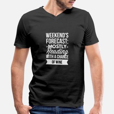 Read Mostly Reading - Men's V-Neck T-Shirt