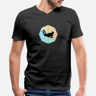 Wipeout Bodyboarding - Men's V-Neck T-Shirt by Canvas