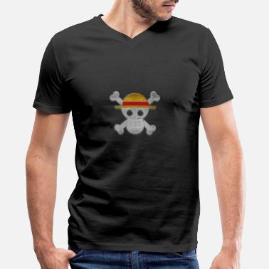 Piece Luffy Jolly Roger - Men's V-Neck T-Shirt