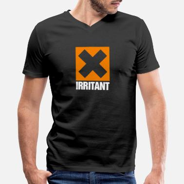 Irritating Irritant - Men's V-Neck T-Shirt by Canvas