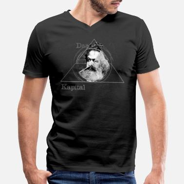 Karl Marx The Time of Marx Dark - Men's V-Neck T-Shirt by Canvas