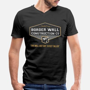 Wall Donald j Trump border wall construction company - Men's V-Neck T-Shirt