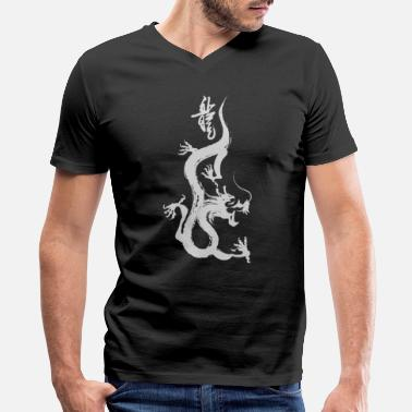 Chinese Chinese Dragon Gift Chinese Calligraphy - Men's V-Neck T-Shirt