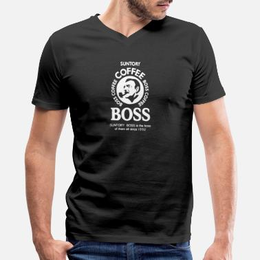 Boss-coffee Suntory boss coffee - Men's V-Neck T-Shirt by Canvas