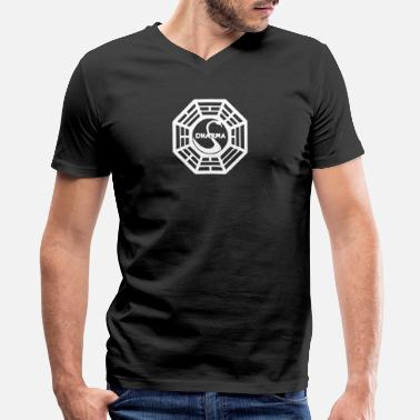 Dharma Initiative Dharma Initiative - Men's V-Neck T-Shirt by Canvas