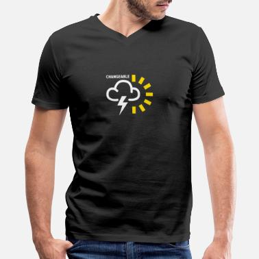 Geek Weather Forecast Symbol - Men's V-Neck T-Shirt