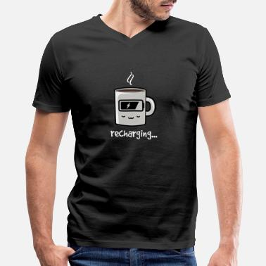 Recharge Coffee Recharge - Men's V-Neck T-Shirt