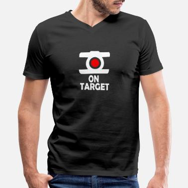 Target On Target - Men's V-Neck T-Shirt