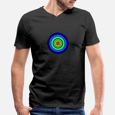 Circle Circle in Circle - Men's V-Neck T-Shirt