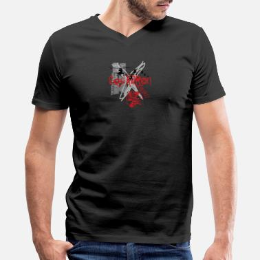 Illustration T shirt prints urban helicopter vector image cool - Men's V-Neck T-Shirt