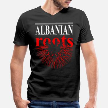 Proud Albanian Roots Albanian Roots Tshirt - Men's V-Neck T-Shirt